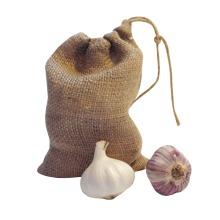 Nutley's 3 Small Hessian Drawstring Garlic Bag Sack 14cm x 20cm