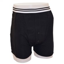 Kylie Male Incontinence Boxer Shorts, Black