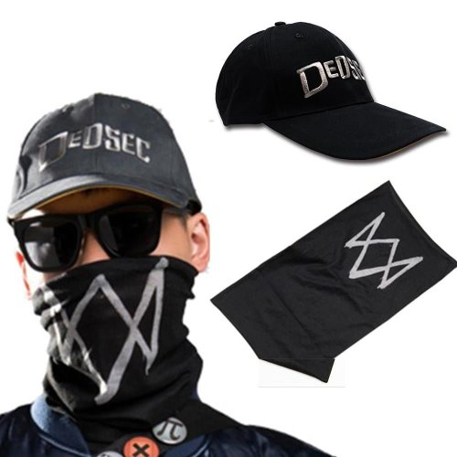 Game Watch Dogs 2 Marcus Holloway Cap hat  And Mask Cosplay  accessary
