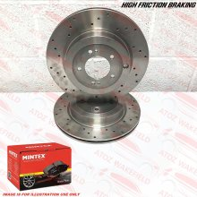 FOR SUBARU LEGACY 3.0 R SPEC B FRONT DRILLED PERFORMANCE BRAKE DISCS PADS 315mm