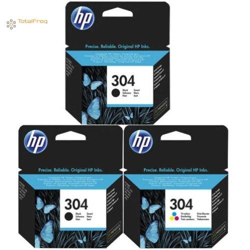 HP 304 MULTIPACK INK CARTRIDGES 2x Black, 1x Color