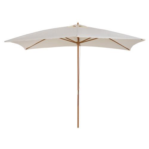 Outsunny 3 x 2m Wood Garden Parasol Sun Umbrella Patio Shade Outdoor Canopy