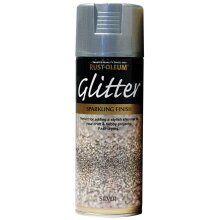 Rust-Oleum Glitter Spray Paint Fast Drying 400ml, Silver