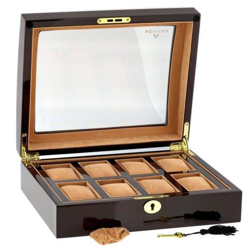 High Quality 8 Watch Box Walnut Veneer by Aevitas