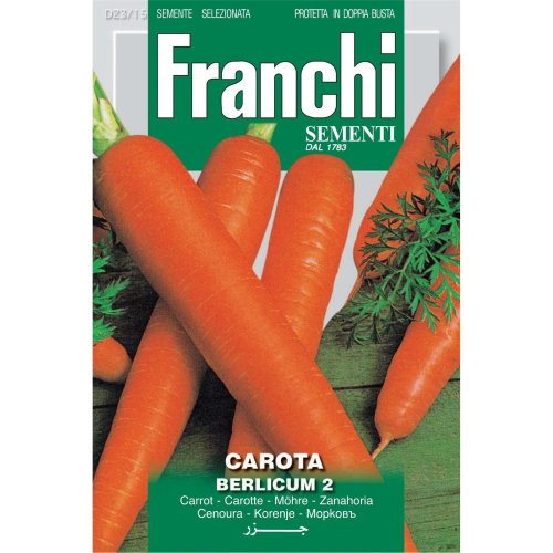 Franchi Seeds of Italy - DBO 23/15 - Carrot - Berlicum 2 - Seeds