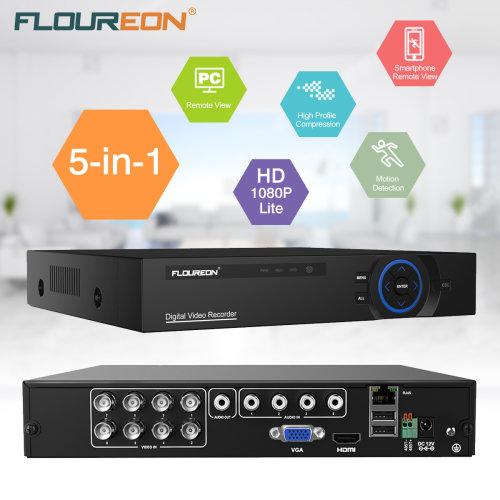 FLOUREON 8CH 1080N CCTV Security AHD DVR 5in1 Digital Video Recorder