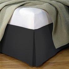 Fresh Ideas FRE20114BLAC02 Poplin Tailored Bed Skirt  Black - Full