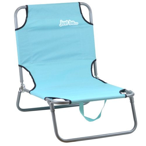 just be...® Beach & Garden Folding Sun Chair Lounger - Light Blue