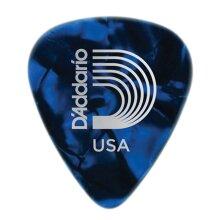 D'Addario Planet Waves Classic Celluloid Guitar Picks Blue Pearl Medium 0.70mm 10 Pack 1CBUP4-10
