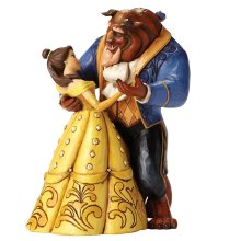 Disney Belle and Beast Moonlight Waltz 25th Anniversary Figurine