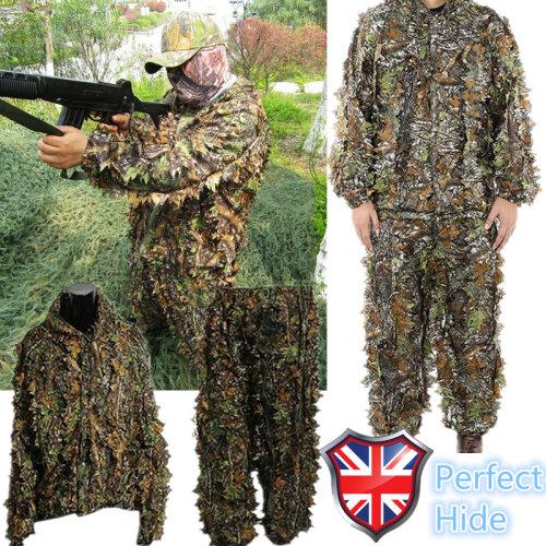 (M-L) 3D Tactical Camouflage Clothing Ghillie Suit