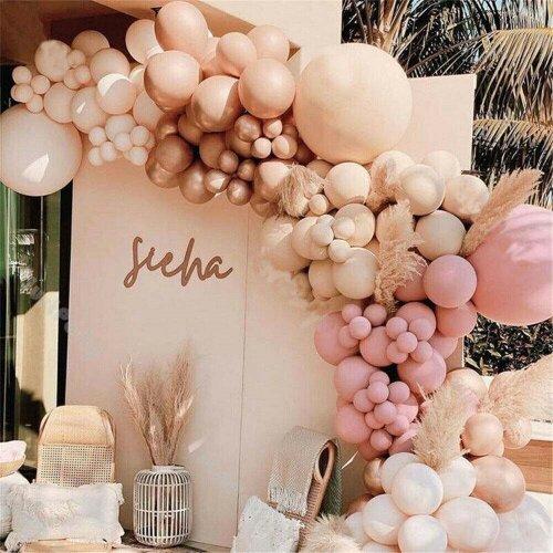 158*Double Layer Balloon Arch Garland Kit Baby Shower Wedding Decor