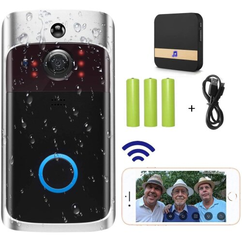Video Doorbell Camera (2020 Upgraded) WiFi Doorbell Camera