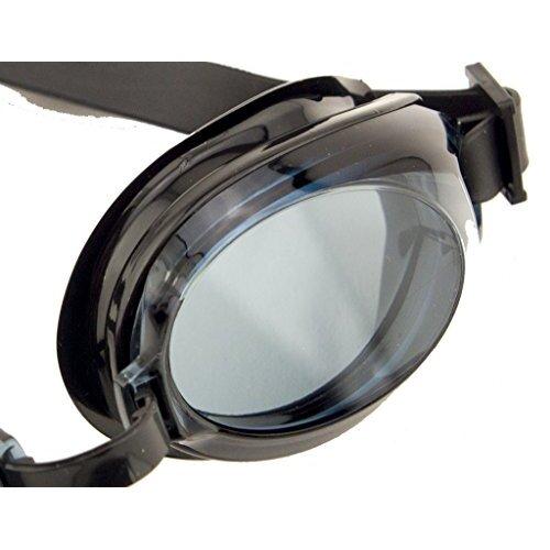 HAND YG-7008 Black Swimming Goggles - Ergonomic Design with 100% U.V. Protection and Anti-Fog Coating
