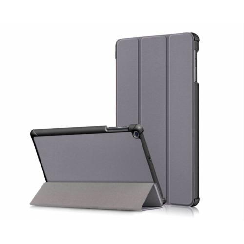 """(Samsung  Tab A 2019 10.1"""" T510 T515, Grey) Samsung Galaxy Tab A (2019) 10.1"""" Tri-Fold Shockproof Leather Case"""