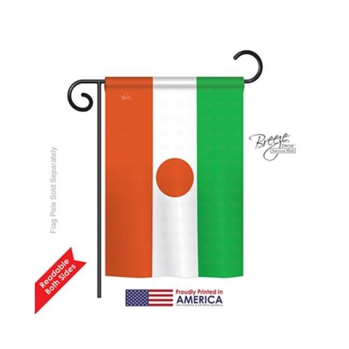 Breeze Decor 58311 Niger 2-Sided Impression Garden Flag - 13 x 18.5 in.