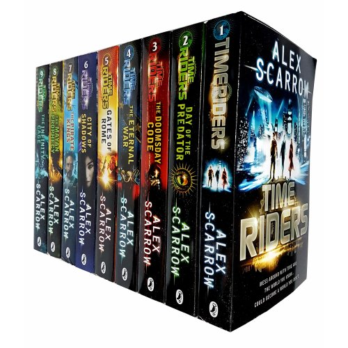 Alex Scarrow Time Riders 9 Books Collection Set