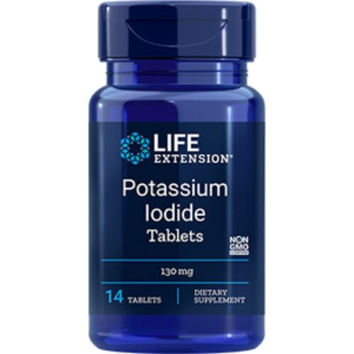 Life Extension Potassium Iodide Tablets, 130mg, 14 Tablets