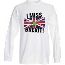 TUFF LUV I Miss Brexit (Nostalgia) T-Shirt White Long - X Large