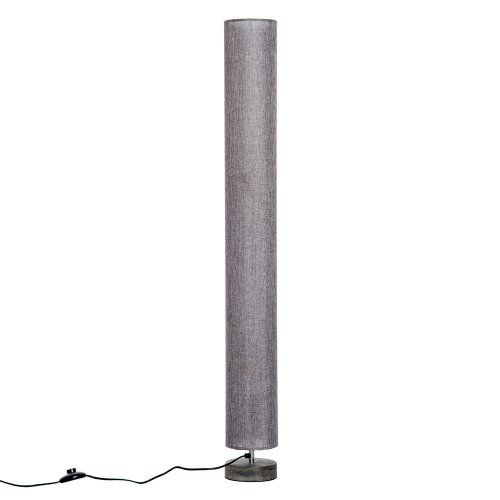 (Grey) Homcom 120cm Column Floor Lamp With Linen Shade