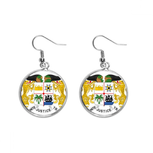 Benin National Emblem Country Ear Dangle Silver Drop Earring Jewelry Woman
