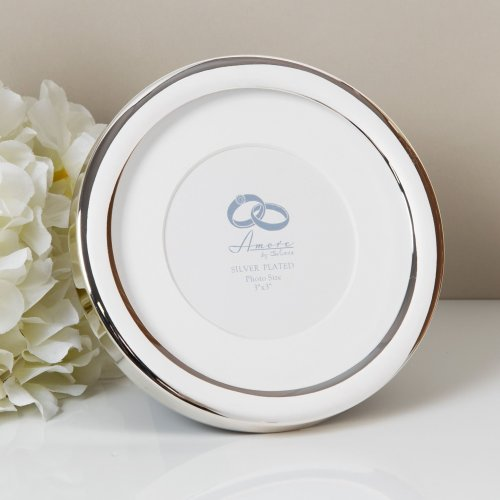 Amore Silverplated Wide Edge Round Frame 3' x 3' - WG92633