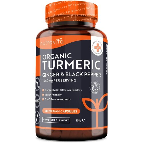 Organic Turmeric Curcumin 1440mg with Black Pepper & Ginger