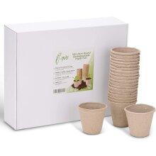 Biodegradable Plant Pots 100 x 8cm Paper Seed Pots