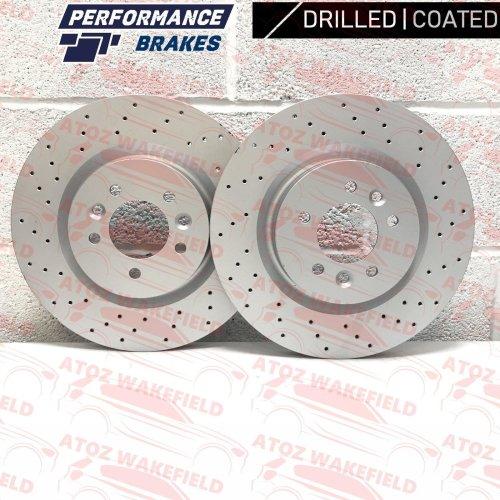 FOR RANGE ROVER L405 FRONT DRILLED COATED PERFORMANCE BRAKE DISCS SET 360mm