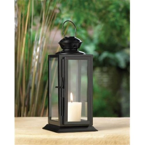 Tall Black Starlight Candle Lantern