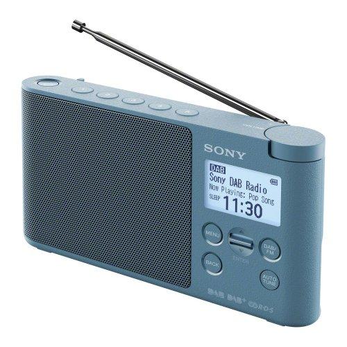 SONY XDR-S41D Portable DABﱓ Clock Radio - Blue, Blue