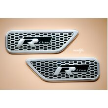 MODIFIX   VW Golf R32 R Line Emblem Honeycomb Wing Aluminium Badge Sticker Trim VW Golf Polo Jetta Caddy Touran Touareg