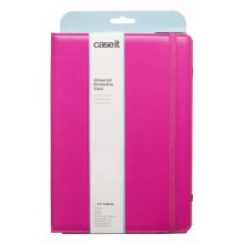 """Caseit Pink PU Universal 10"""" Protective Tablet Case With Built-In Stand"""