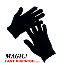 12 Pairs Black Magic Gloves Unisex Men Ladies