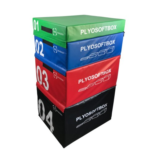 Plyometric Box Soft Stackable Set 4 Tiered Jump Boxes