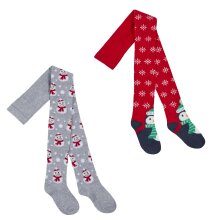 Childrens 2 pack of Christmas Tights