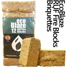 EcoBlaze RUF Wood Briquettes - 12 Pack