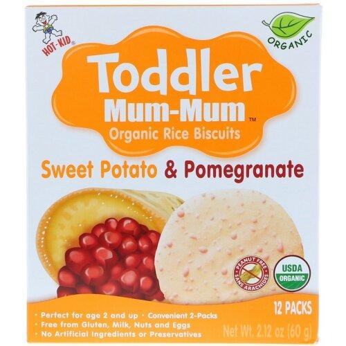 Hot Kid, Toddler Mum-Mum, Sweet Potato & Pomegranate, 60g