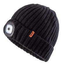 Scruffs LED Beanie Warm Winter Work Hat Rechargeable LED Headlight