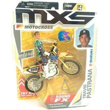 MXS Motocross Travis Pastrana Die-cast Bike & Rider with Sound Fx - Series 4