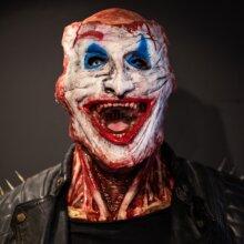 Halloween Joker Simulation Bloody Skull Double Full Mask Party Scary Fancy Dress