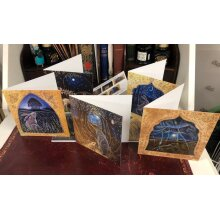 Moon and Stars card pack of 5 cards by Hannah willow