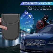 Car Key Signal Blocker Case Faraday Fob Pouch Keyless RFID Blocking Bag Wallet
