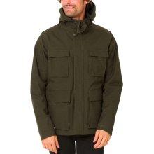 Animal Mens Domain Hooded Zipped Shower Resistant Jacket Coat Top - Olive Marl