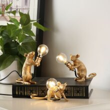 Italy Designer Mouse Resin Table Lamps(Golden)