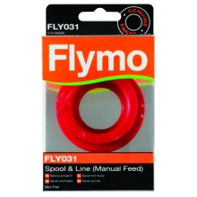 Flymo FLY031 Single Line Manual Feed Spool and Line to Suit Mini Trim and Mini Trim ST - Red