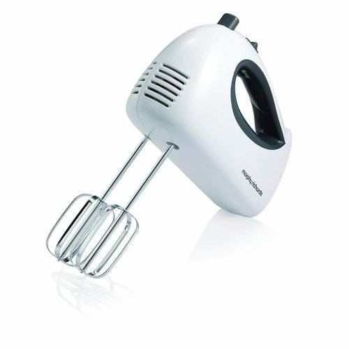 Morphy Richards 5 Speed Settings Hand Mixer, White, Small