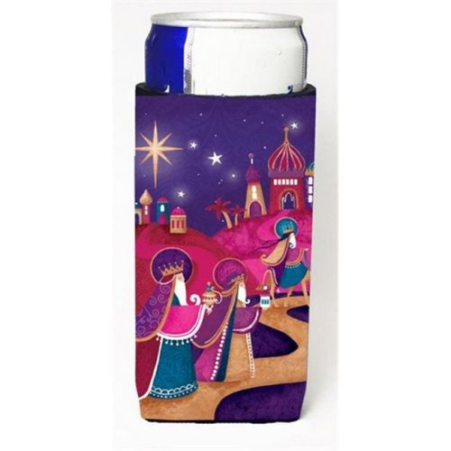 Christmas Wise Men in Purple Michelob Ultra Can coolers for Slim Cans
