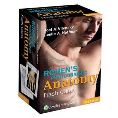 Rohens Photographic Anatomy Flash Cards by Joel A Vilensky