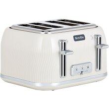 Breville Flow Collection VTT891 4 Slice Toaster - Cream
